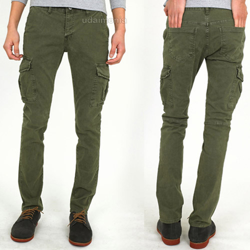 mens cargo pants slim - Pi Pants
