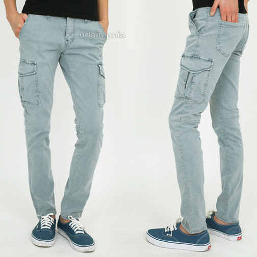 light blue cargo pants - Pi Pants