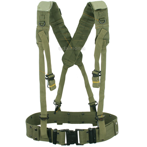Mens Military Army Style LC2 X Back Suspenders Utility Web ...