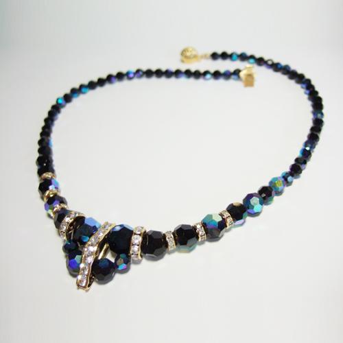 vintage czech crystal necklace eBay
