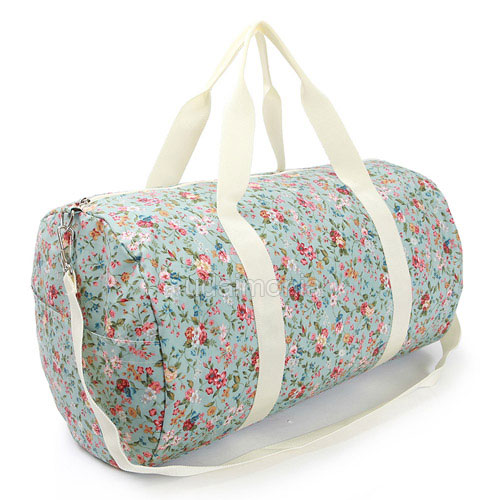 Floral Travel Bag for Women Duffle Gym Shoulder Bags Traveler ...