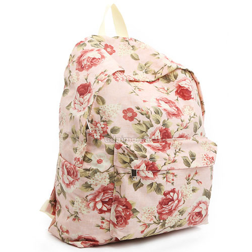 Floral Bags Backpacks Bookbags for Women Girls Flower Design ...