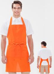 목걸이형 스냅단추 앞치마/오렌지 A-809