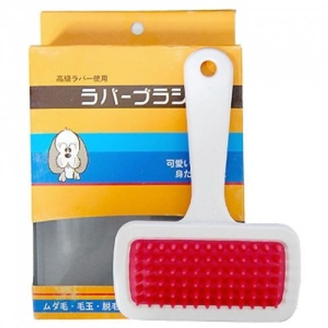 일본 강아지 고양이 빗 러버 브러쉬 L