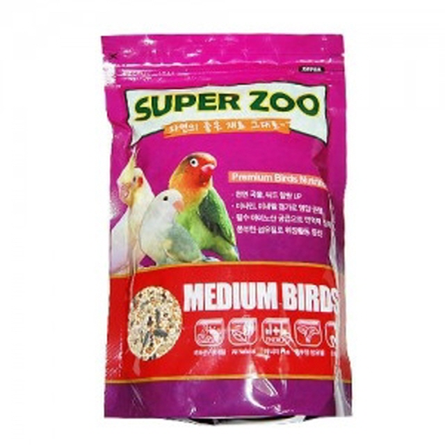 새 모이 새 사료 새 먹이 SuperZoo 중형새 400g