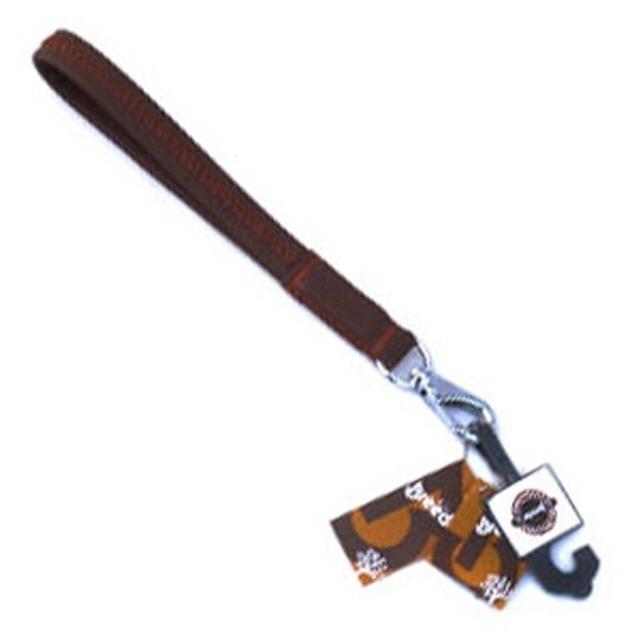 브리더 애견  통가죽 꽈배기 리드줄 브라운 L 25cm