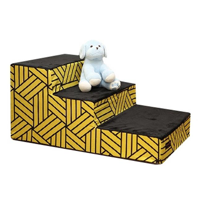 오로라펫 애완동물 강아지 계단 옐로우 스텝