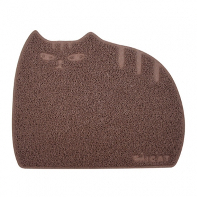 고양이 모래매트 뚱냥이 모래매트 레귤러 브라운