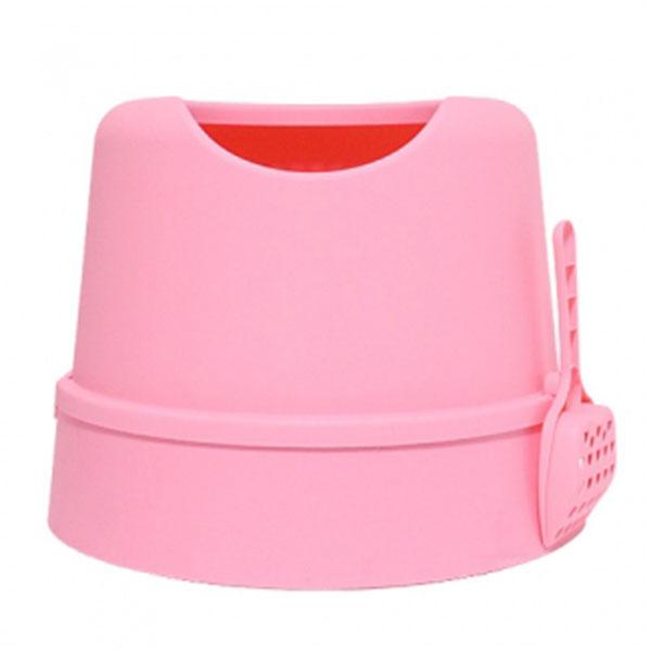 우쭈쭈 탑엔트리 고양이화장실 핑크