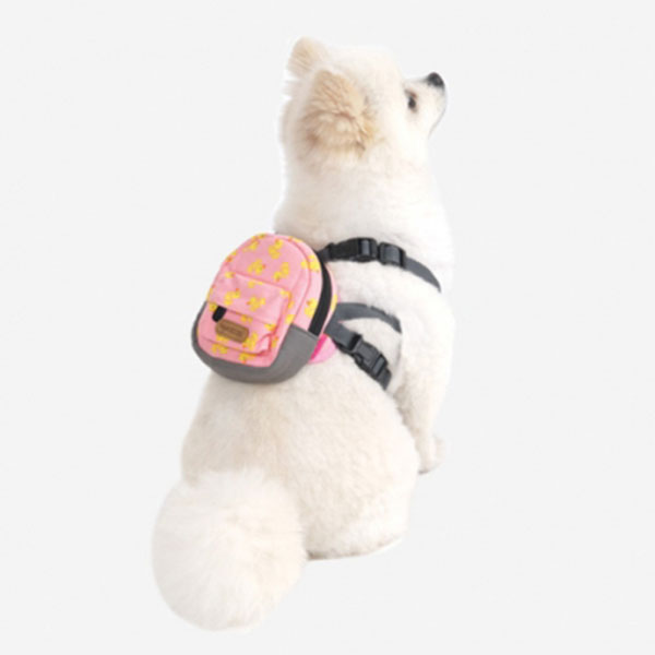 심플패턴 백팩 하네스 큐트덕 핑크 L-XL