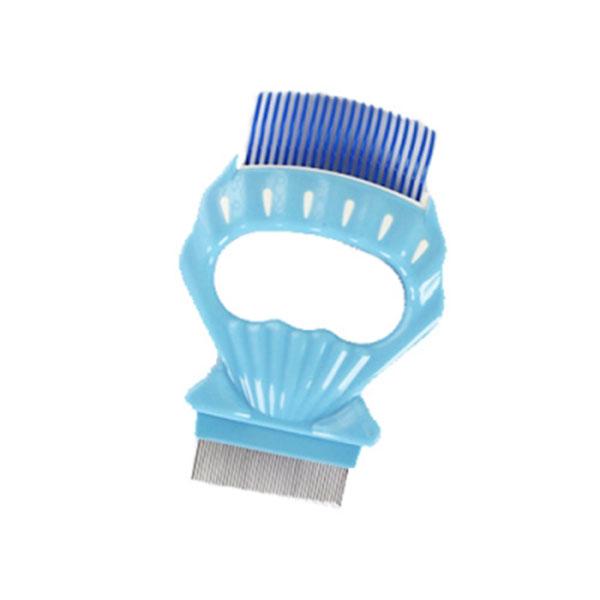 골드펫 조개빗 블루 장모용