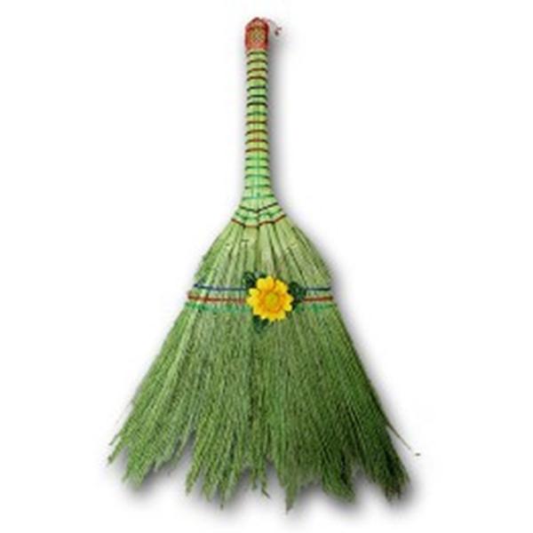 [현재분류명],부드러운 그린 꽃 수수비 청소용품,