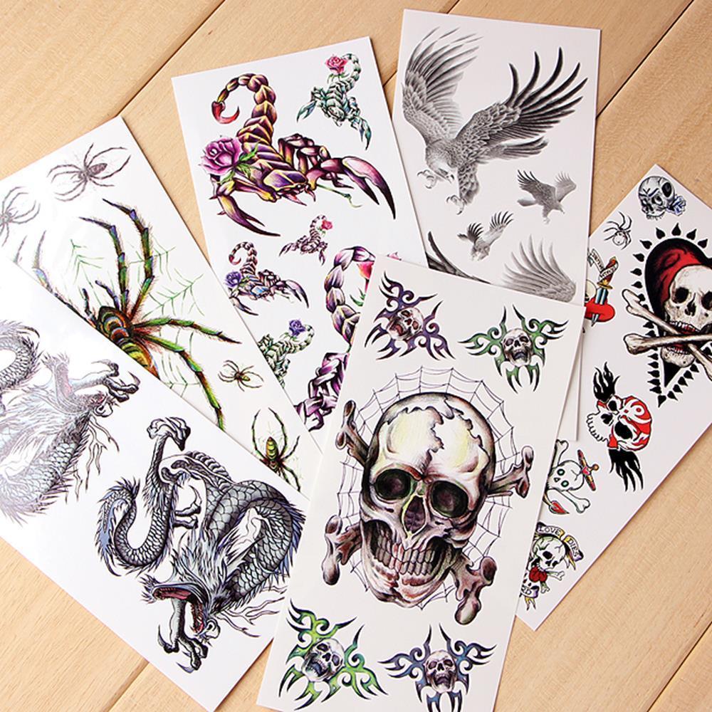 피부부착 10종 문신용 타투 스티커 패션판박이