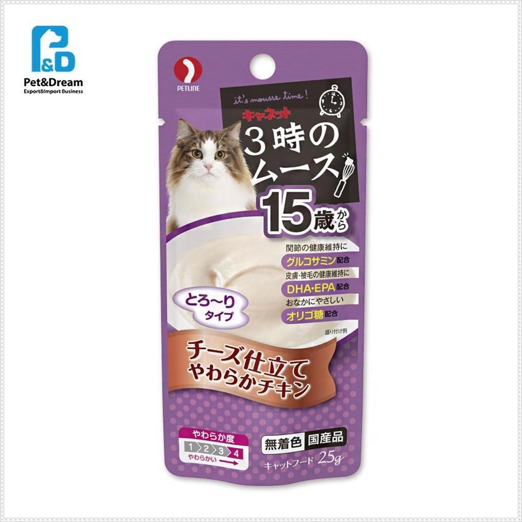 15세이상 냥이파우치 치즈 25g 고양이영양간식 캣음식