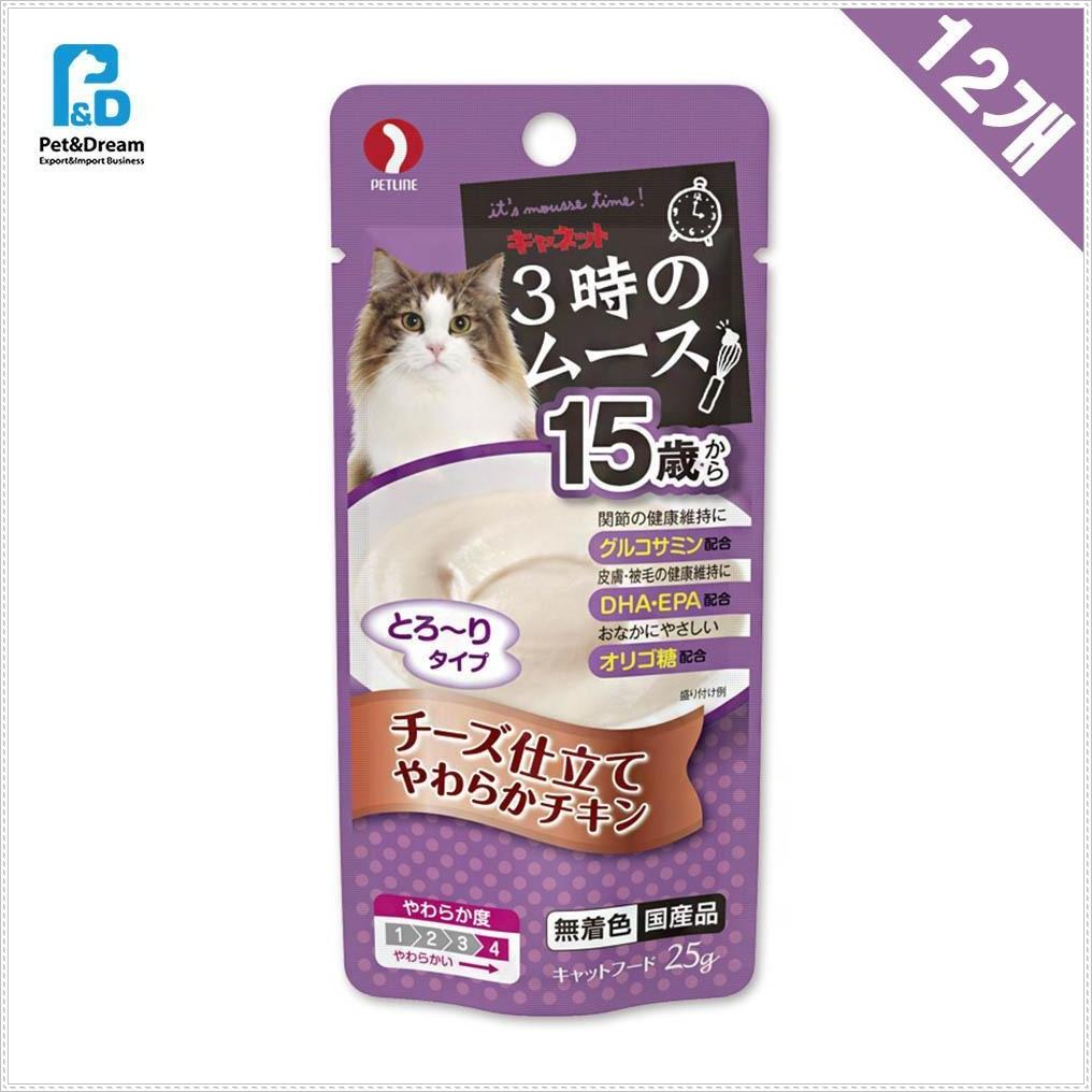 15세이상 냥이파우치 치즈 25g x12 반려묘파우치