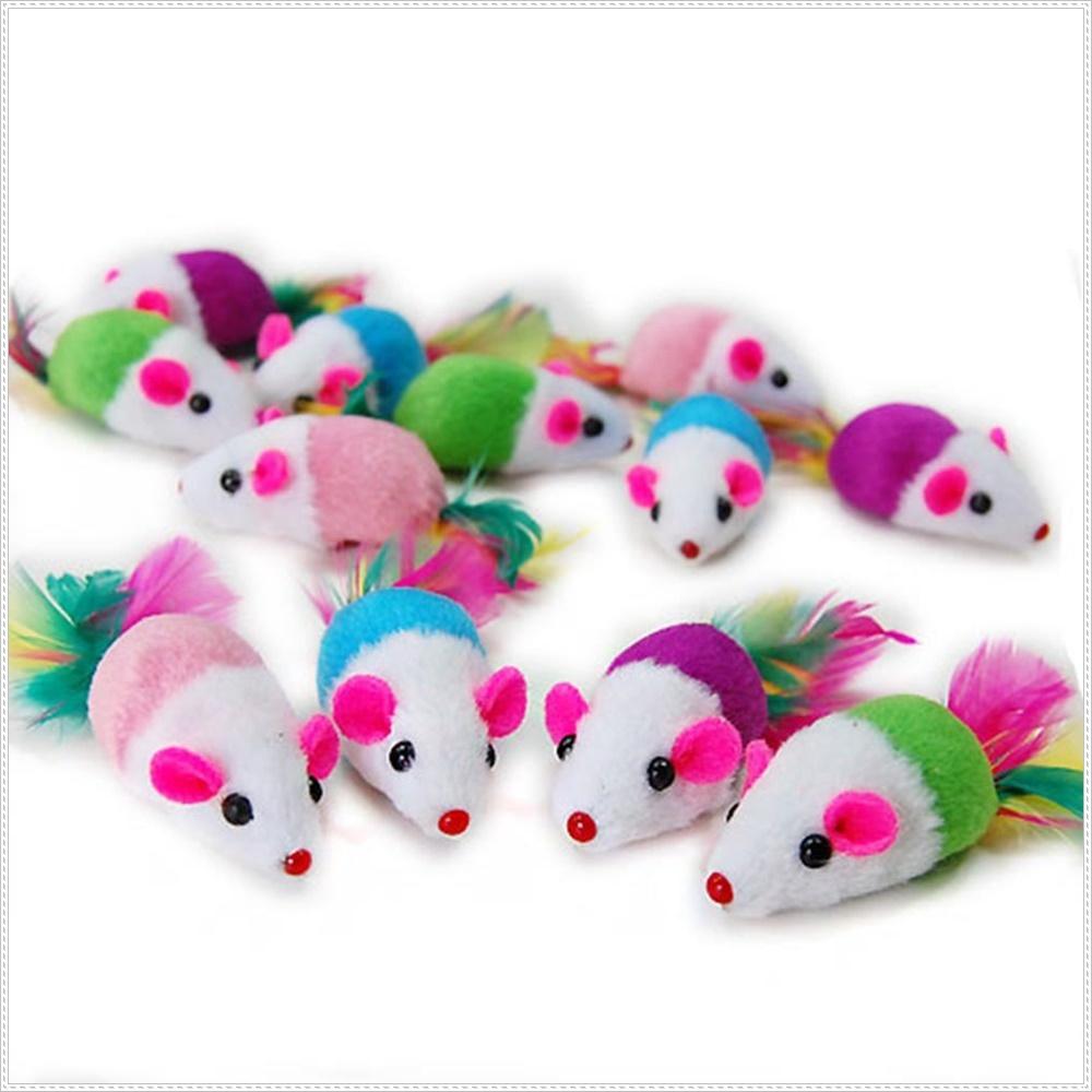 12마리 칼라 캣닙마우스 고양이 장난감 사냥본능