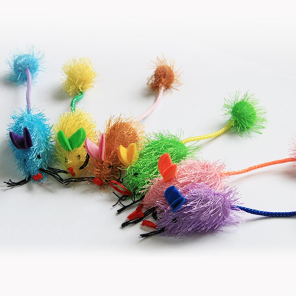 송침쥐 낚시대 리필용 색상랜덤 2개 고양이낙시 토이