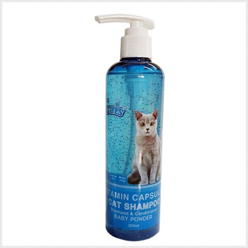 고양이 비타민 캡슐 샴푸 베이비파우다향 고양이샤워
