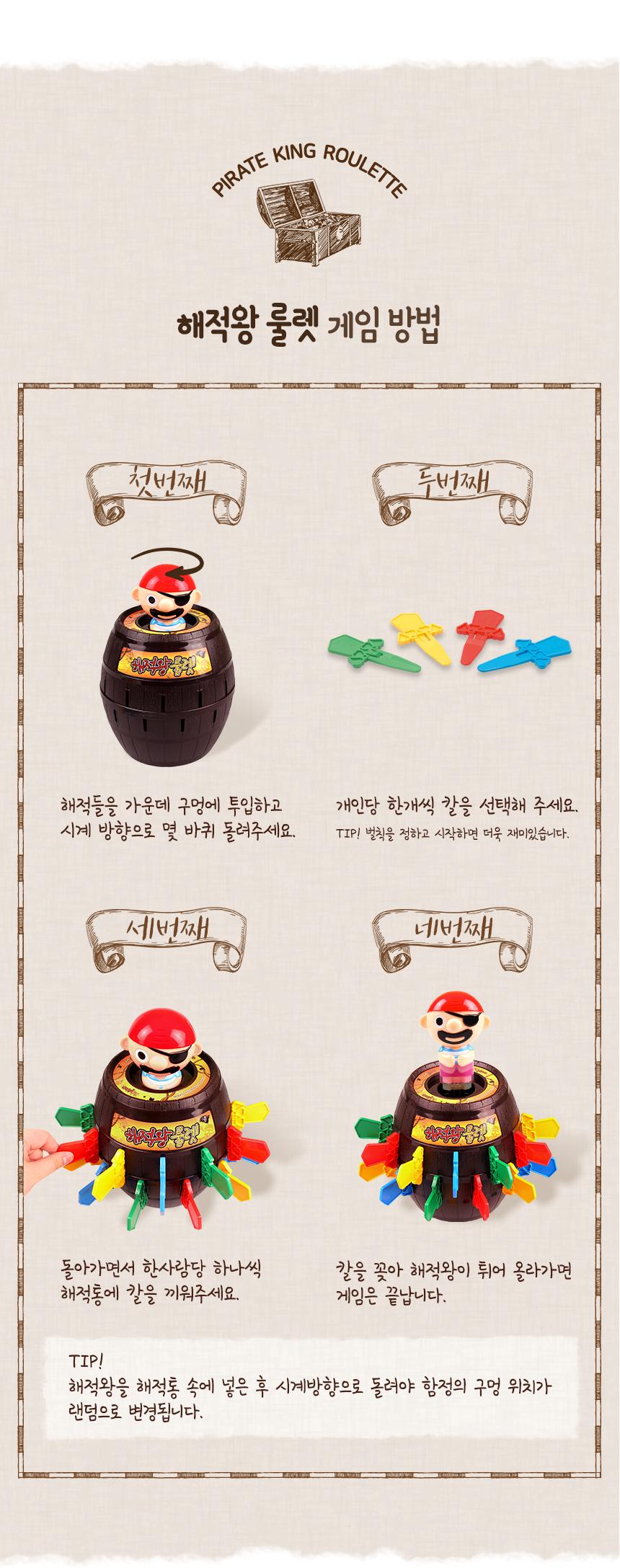 해피플레이 해적왕룰렛 보드게임 통아저씨 복불복게임 - 해피플레이, 15,900원, 장난감, 장난감