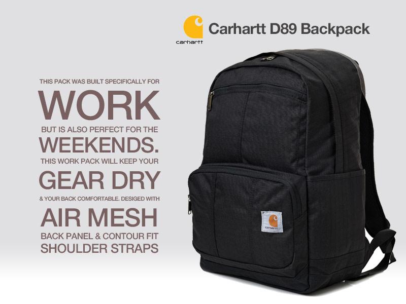 ccadeef866 [칼하트 D89 백팩 블랙 (Carhartt D89 Backpack Black)]
