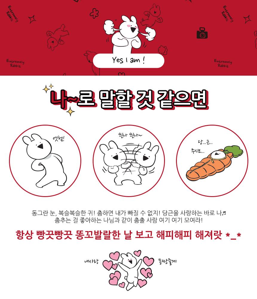 오버액션토끼 양말 여자 남자 포인트아이콘 덧신 - 오버액션토끼, 1,900원, 여성양말, 패션양말