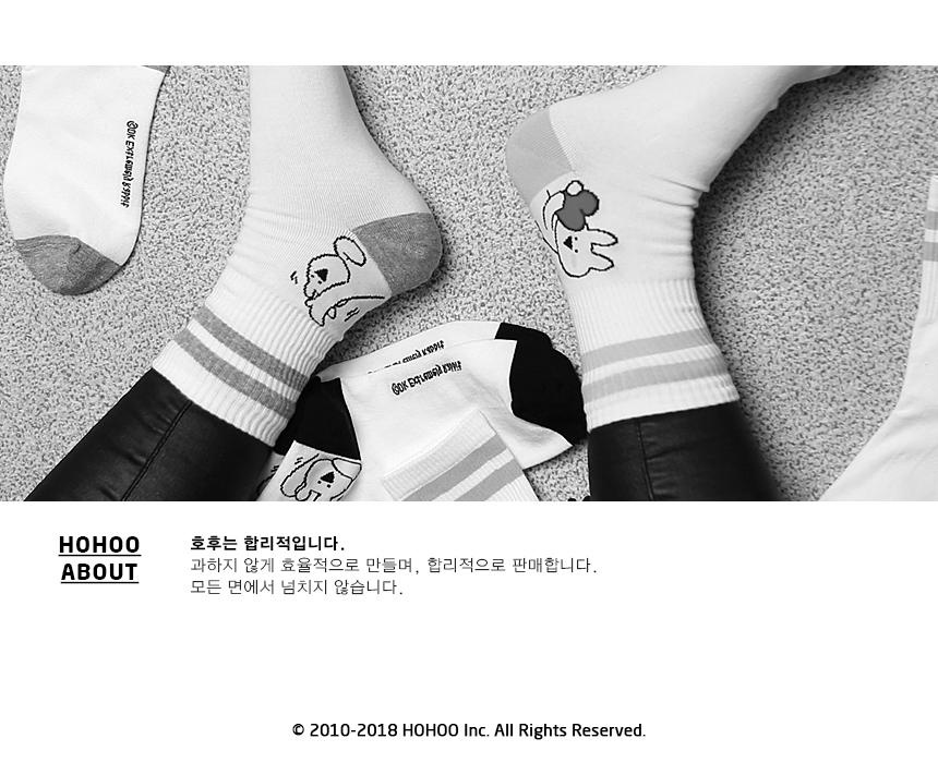 오버액션토끼 양말 여자 남자 단가랑링글 중목 - 오버액션토끼, 1,900원, 여성양말, 패션양말