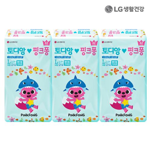 LG생활건강 토디앙 핑크퐁 팬티 대형 남아용 126P (42p*3)●