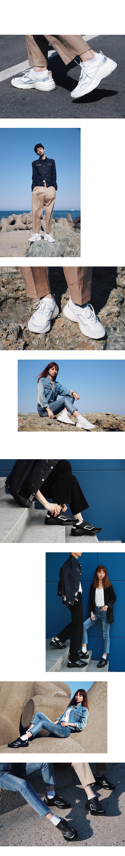 라이크썸모어(LIKE SOME MORE) 남녀공용 루벤 레더 스니커즈 - 화이트