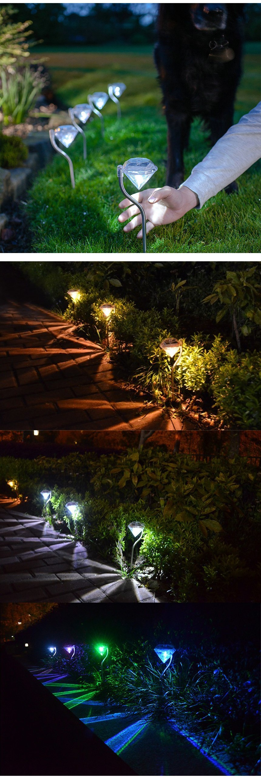 LED 태양광 조명 무드 정원등 - 제이케이엠티알, 3,900원, 리빙조명, 야외조명