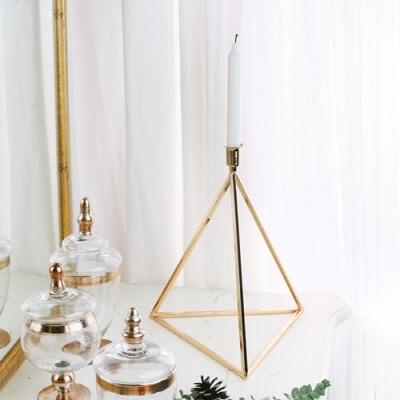 [리스트샵] 골드 피라미드 대형 캔들홀더 / 협찬 소품