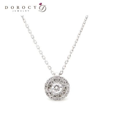[도로시] 14k 비체 인비져블 다이아몬드 목걸이 / 보그맘 박한별 목걸이