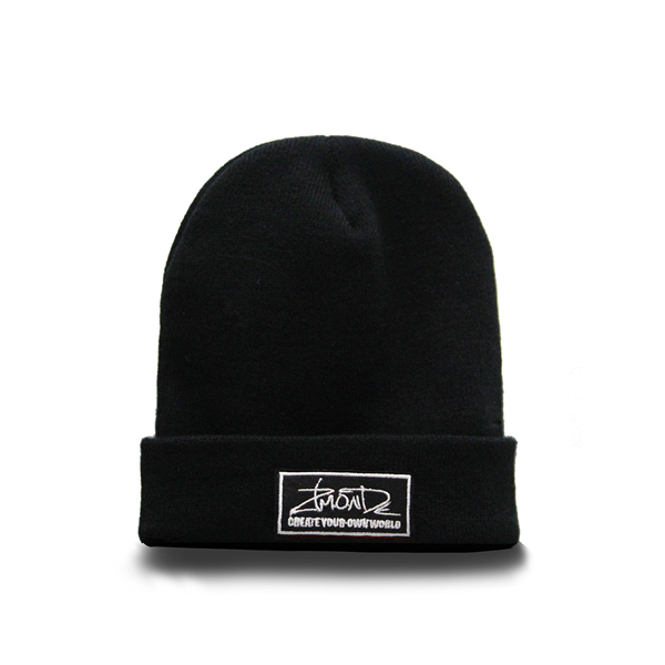 [지몬드] Patch Beanie (Black & White)