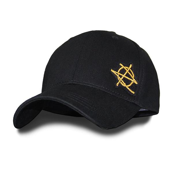 [지몬드] Patched Ball Cap (Black & Gold)