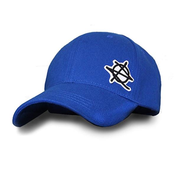 [지몬드] Patched Ball Cap (Blue & Black)