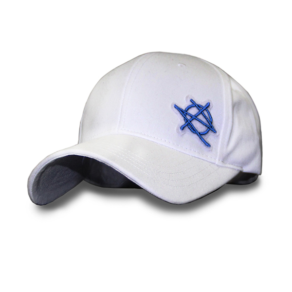 [지몬드] Patched Ball Cap (White & Blue)