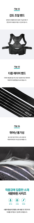 메디앤스토리 바른자세밴드 프리미엄 - 메디앤스토리, 49,800원, 안마/교정, 교정기구