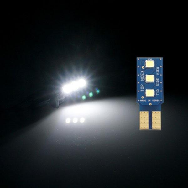 T10타입 12V용 TOP NOEX 사이드뷰 LED전구 화이트LED