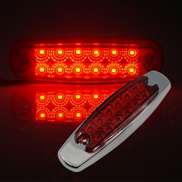 12V-24V겸용 V2 크롬커버형 LED사이드램프 레드LED