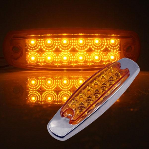 12V-24V겸용 V2 크롬커버형 LED사이드램프 옐로우LED