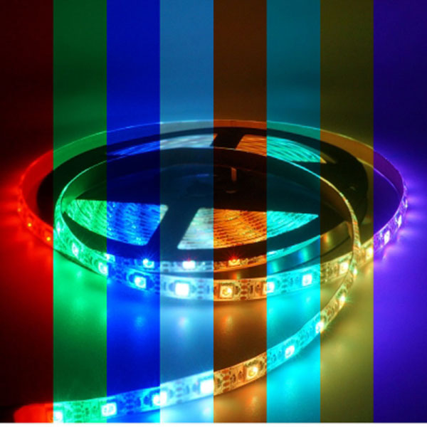 5V전용 LED바 5M롤 RGB LED 간접조명 인테리어 주방등 다용도