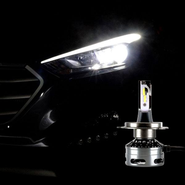 12V-24V겸용 LED전조등 H4타입 엠프로빔블랙에디션V2 2개 1세트