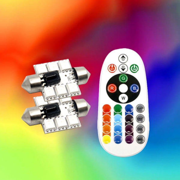 36mm타입 12V용 무선리모컨 RGB LED전구
