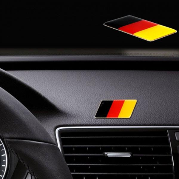 독일라인 엠블럼 평면형 오토바이 자동차량 양면테이프 부착식