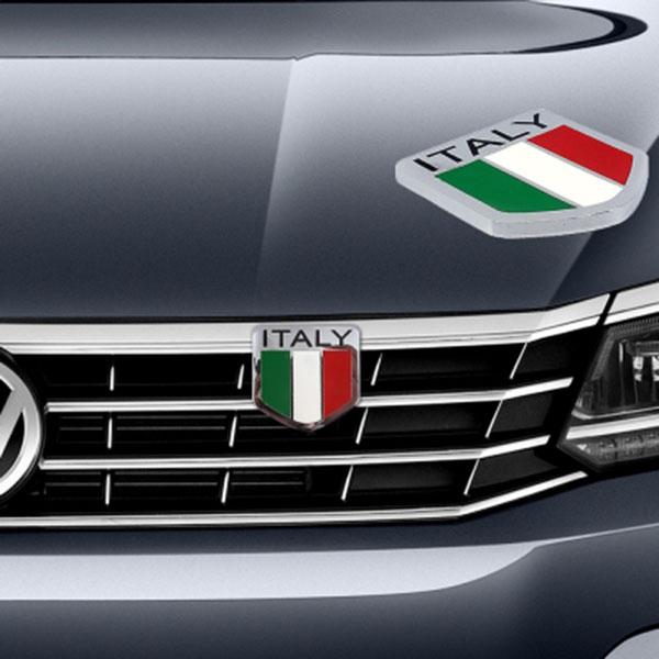 국기라인 그릴 엠블럼 이탈리아