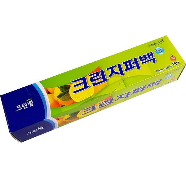 크린랲 지퍼백 위생백 비닐팩 30cm x 35cm 15매