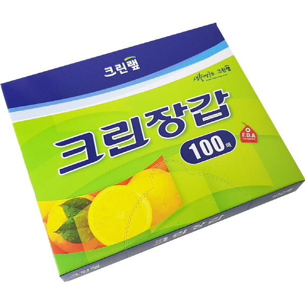 크린랩 위생장갑 일회용장갑 100매