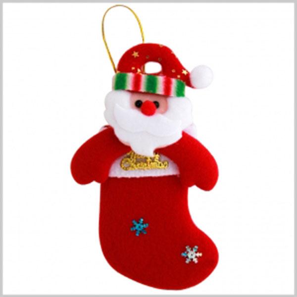 1500크리스마스산타양말속친구들(장식용)[10묶음판매] [E-4]