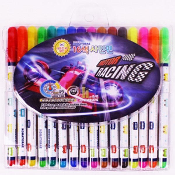 4500 16색 싸인펜(레이싱,공주)
