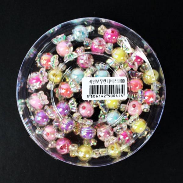 5000레인보우캔디비즈[대용량][22*11mm]