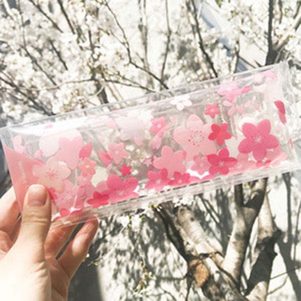 랑캣몰 오동에발레리 벚꽃 투명 펜슬케이스